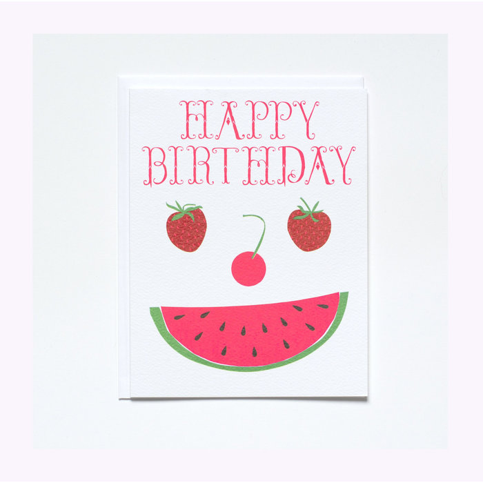 Banquet Atelier Happy Birthday Fruit Face Card