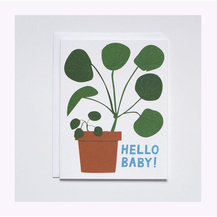 Carte Hello Baby Pilea Banquet Atelier
