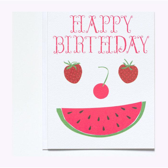 Carte Happy Birthday Fruit Face Banquet Atelier