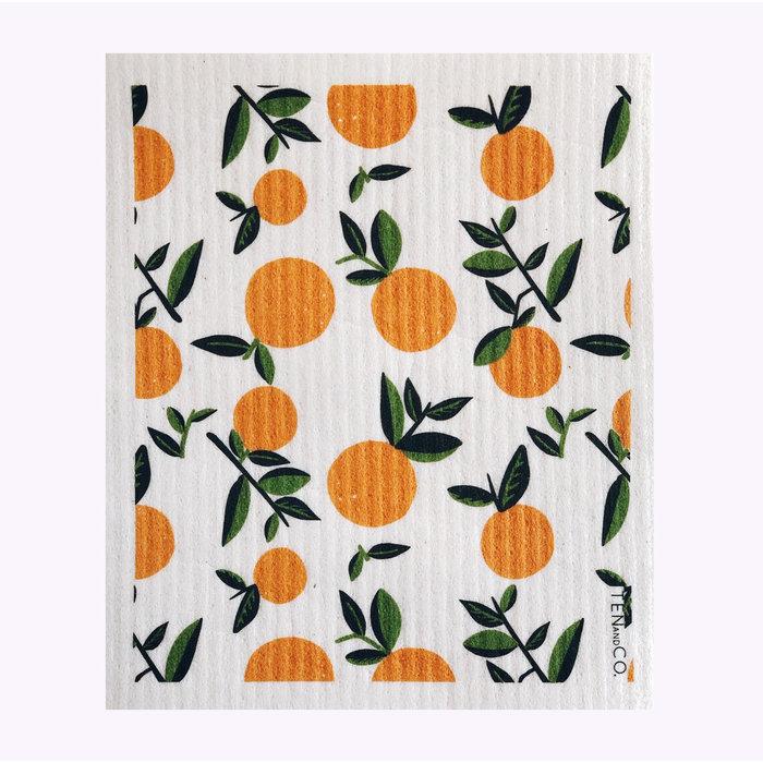 Ten & Co Orange Sponge Cloth