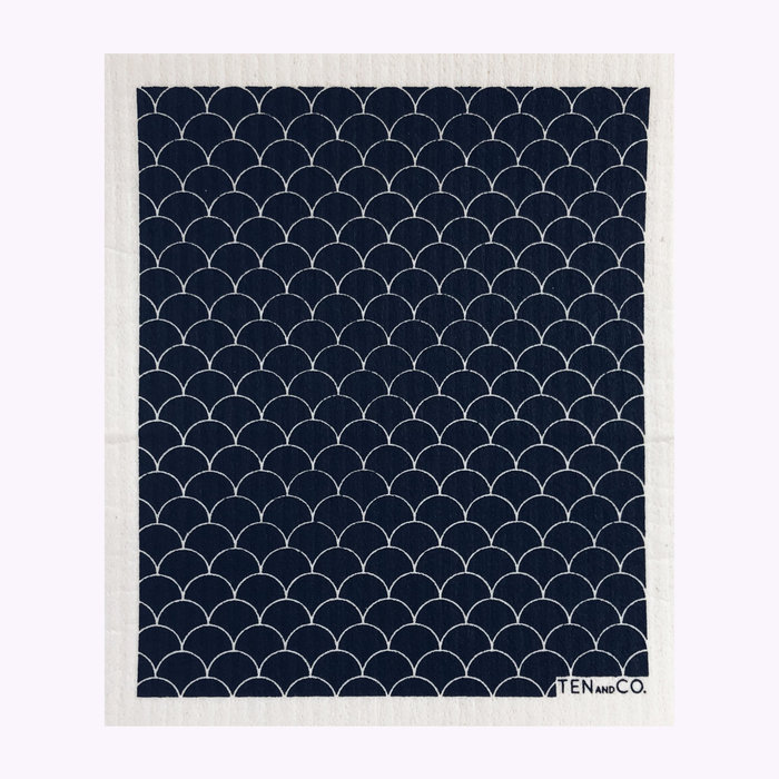 Ten & Co Ten & Co Black Scallop Sponge Cloth