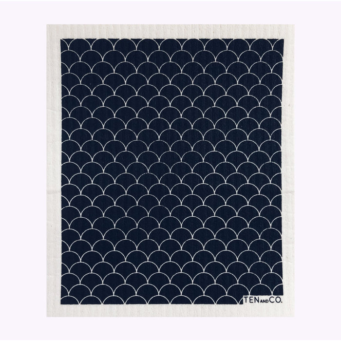 Ten & Co Black Scallop Sponge Cloth