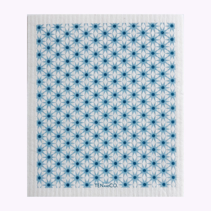 Ten & Co Ten & Co Starbust  Blues Sponge Cloth