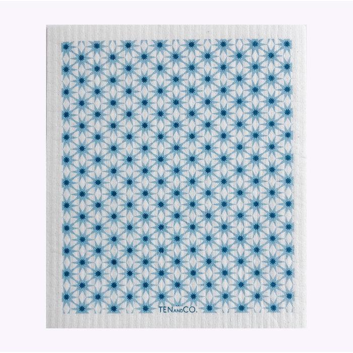 Ten & Co Starbust  Blues Sponge Cloth