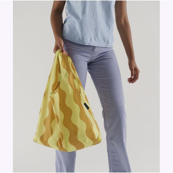 Baggu Yellow & Gold Wavy Stripe Reusable Bag