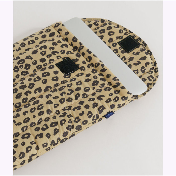 "Baggu Honey Leopard Puffy Laptop Sleeve 13"""
