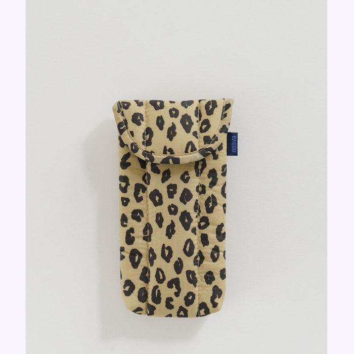 Baggu pochette Baggu Honey Leopard Puffy Glasses Sleeve