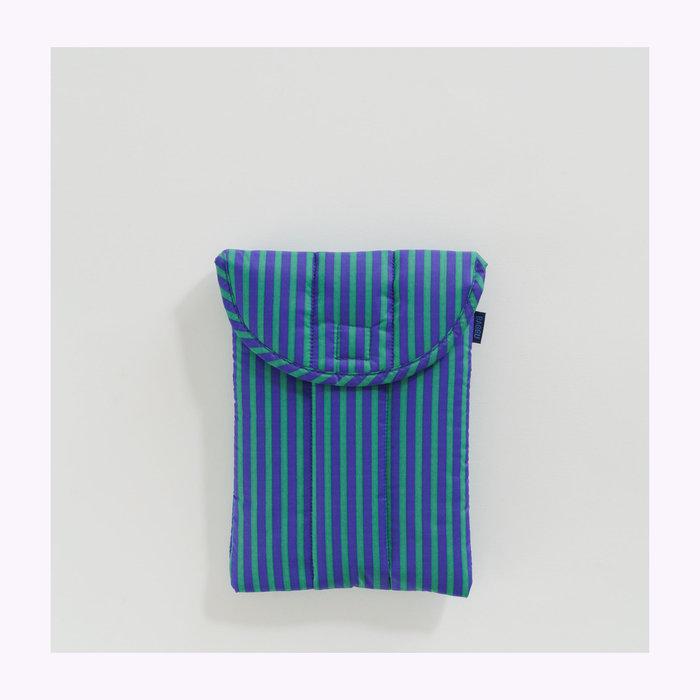 "Baggu pochette Baggu Cobalt & Jade Stripes Puffy Tablet Sleeve 8"""
