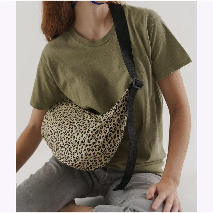 Baggu Honey Leopard Crescent Bag