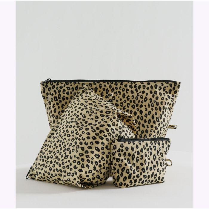 Baggu Honey Leopard Pouch M