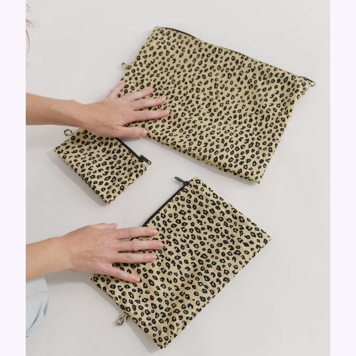 Baggu pochette Baggu Honey Leopard Pouch S