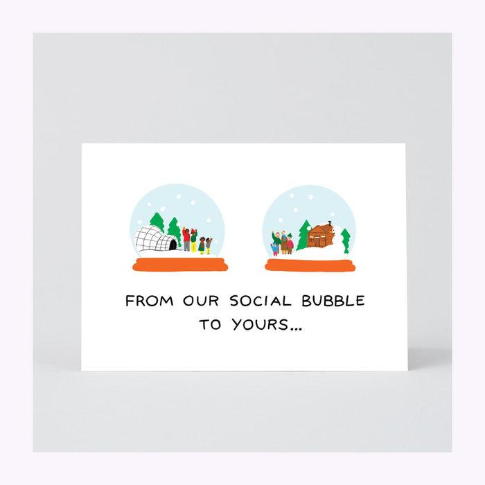 Wrap Wrap Social Bubbles Greeting Card