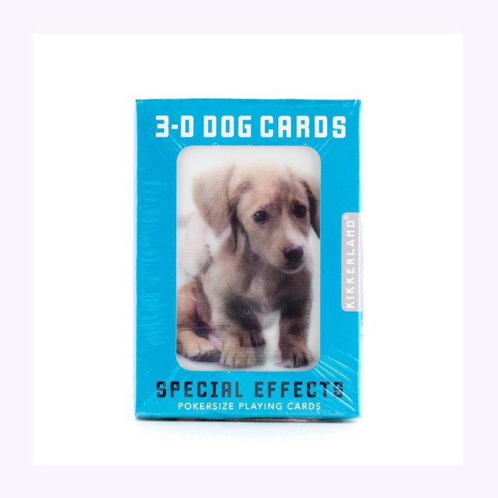 Kikkerland Jeu de cartes 3D chiens Kikkerland