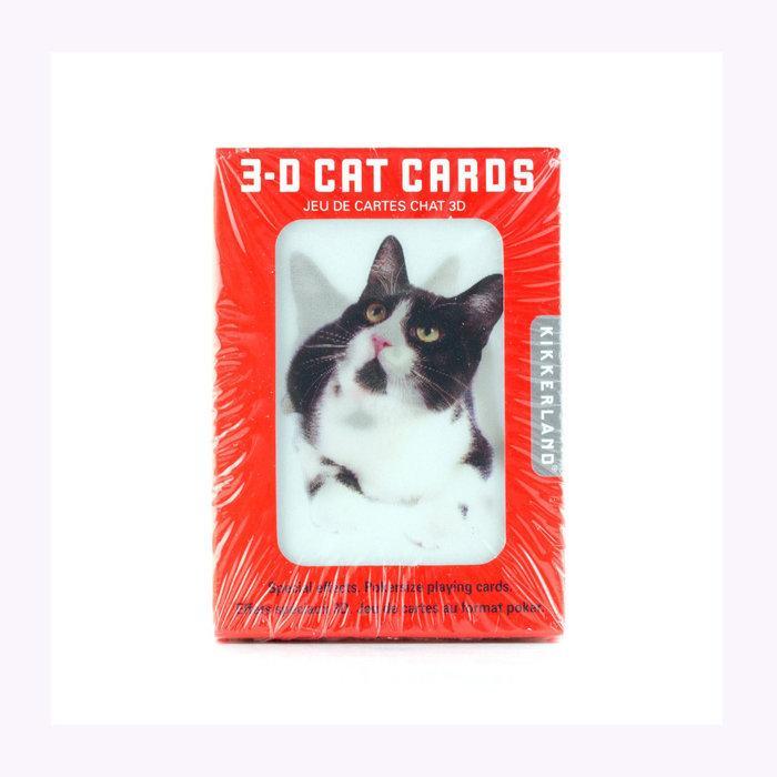 Kikkerland Jeu de cartes 3D chats Kikkerland