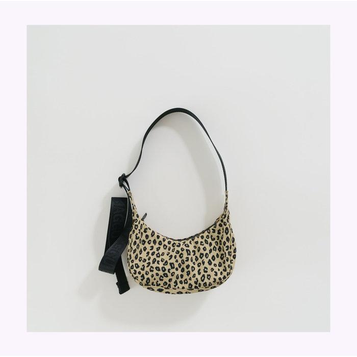 Baggu Mini Honey Leopard Crescent Bag