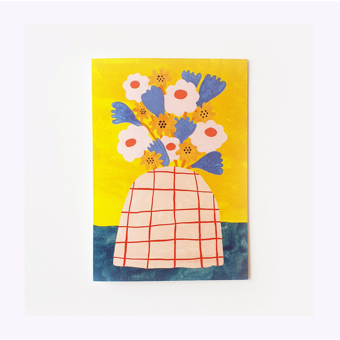 Giant Pansy Handful of Wildflowers Card