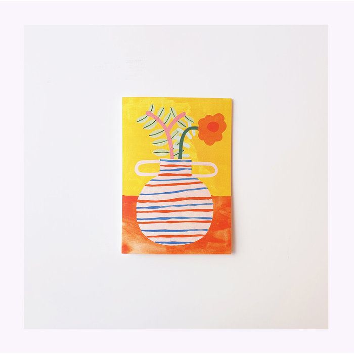 Carte Mum's favorite vase  Giant Pansy