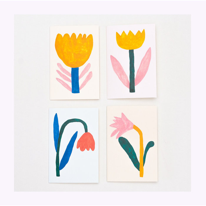 Giant Pansy Tulip IV Card