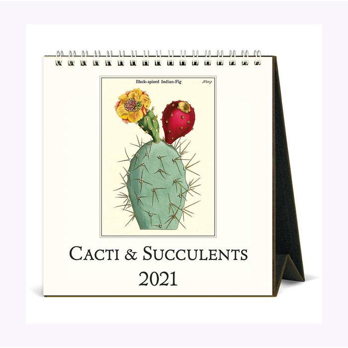 Cavallini Succulents Table Calendar