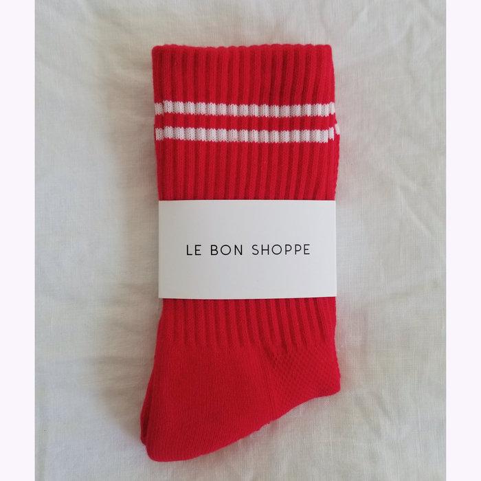 Le Bon Shoppe Le Bon Shoppe Red Boyfriend Socks
