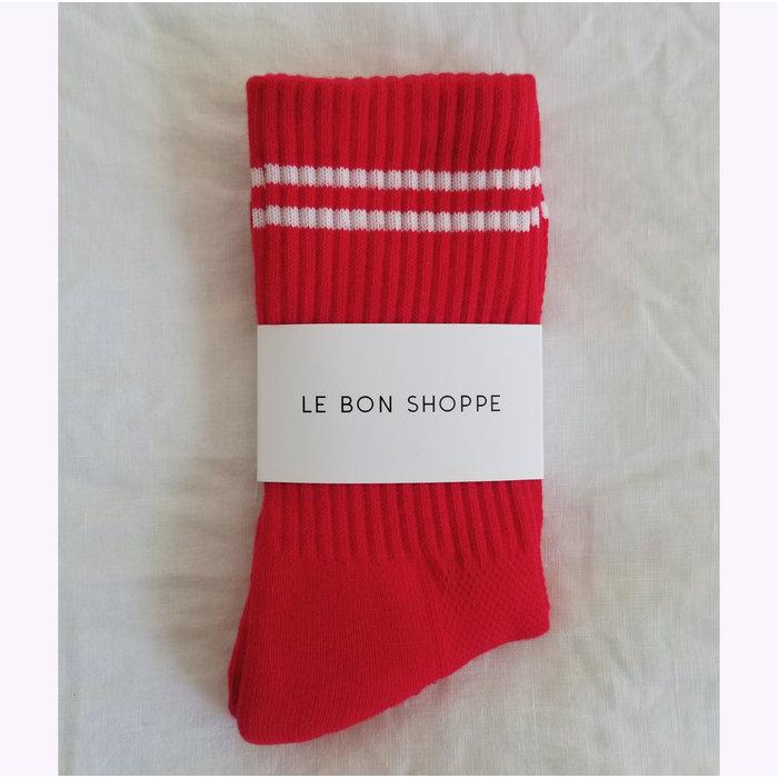 Le Bon Shoppe Red Boyfriend Socks