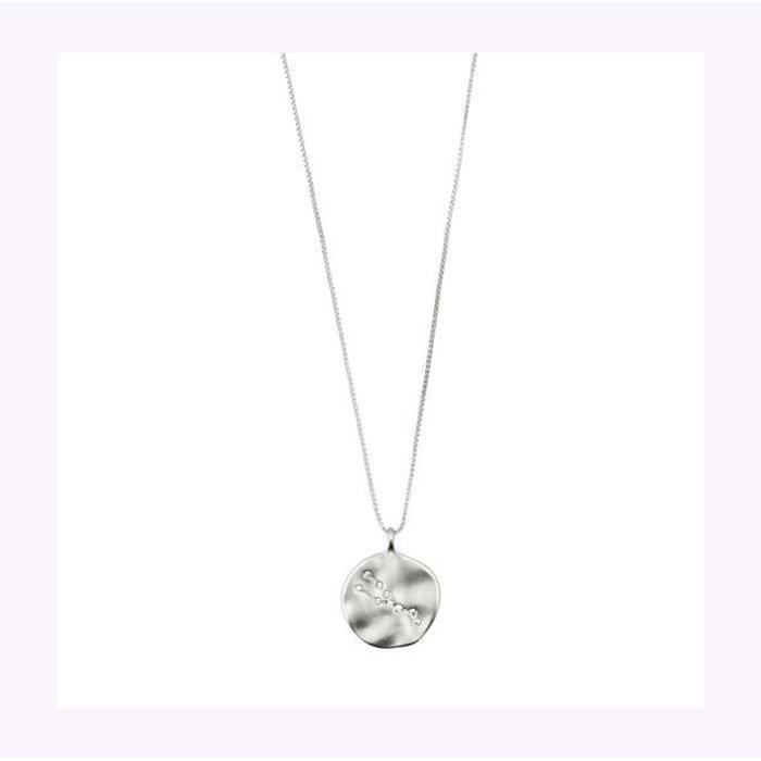 Pilgrim Silver Horoscope Necklace