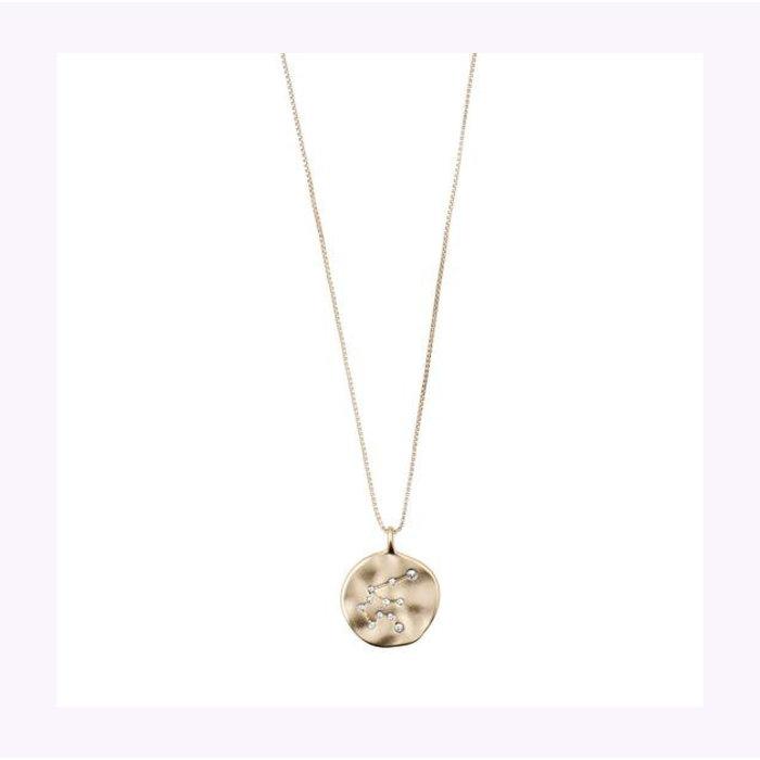 Pilgrim Gold Horoscope Necklace
