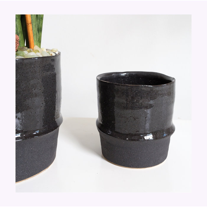 Accent Decor Black Valley Planter 4.75 x 4.75
