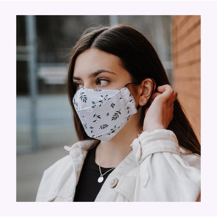 Augustin & co Grey Floriane Mask