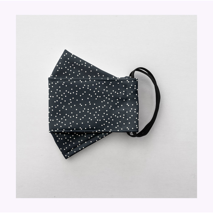 Augustin & co Dark Blue With Dots Mask