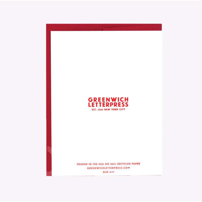 Carte d'anniversaire The Thirties Greenwich Letterpress