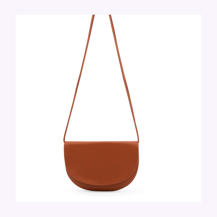 Monk & Anna Monk & Anna Half Moon Burnt Orange Soma Handbag