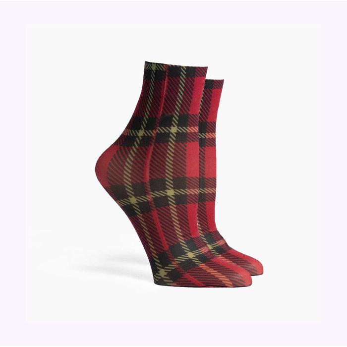 Richer Poorer Red Velvet  Vivienne Socks