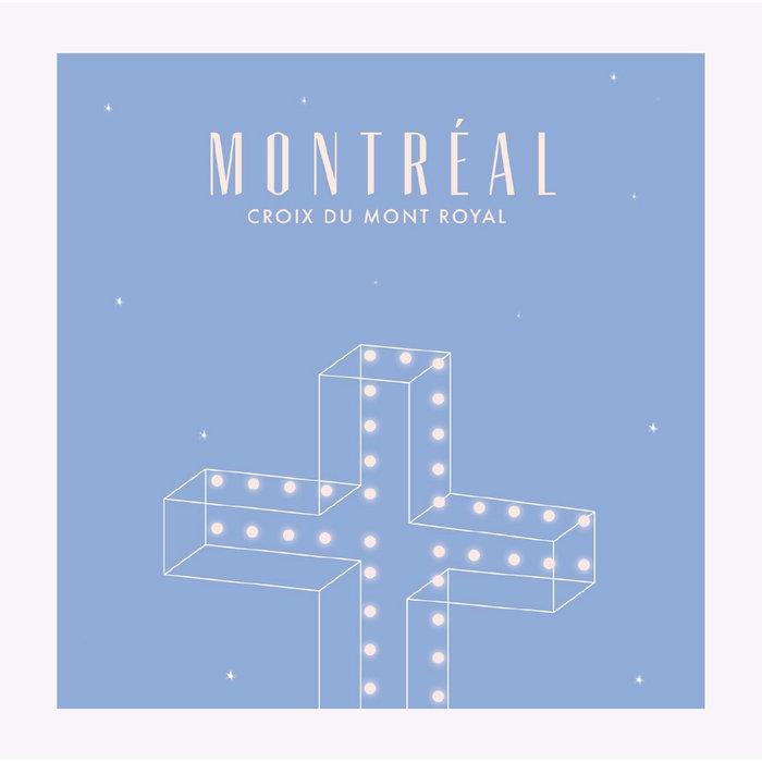 Hello LA Mount Royal Cross Print