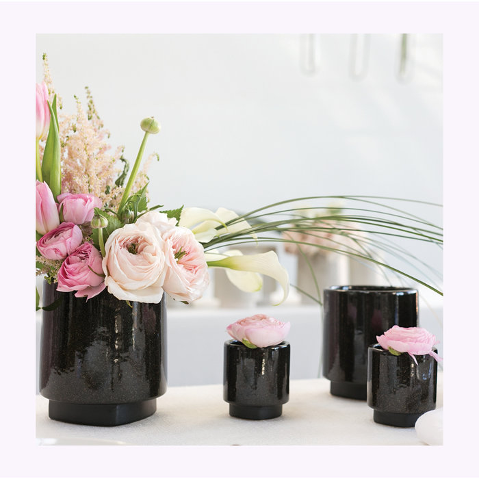 Accent Decor Black Croix Planter 2.75 x 3