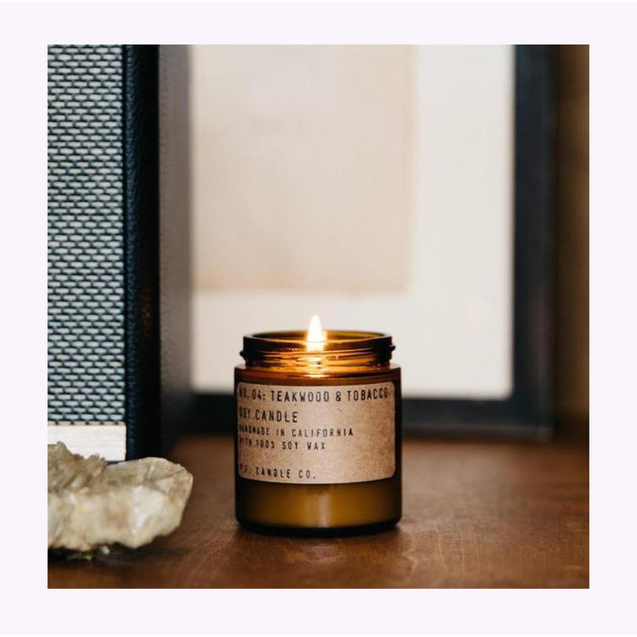 Pf Candle Co. Mini Teakwood & Tobacco Candle