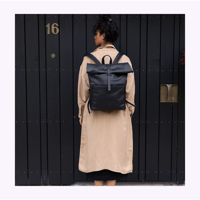Monk & Anna Black Herb Backpack