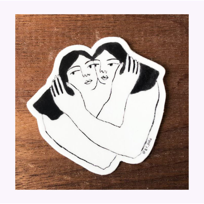 Julia GR Hug Sticker