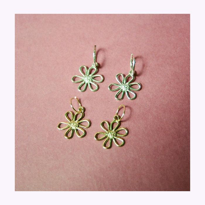 Bilak Bilak Flower Blueprint Earrings