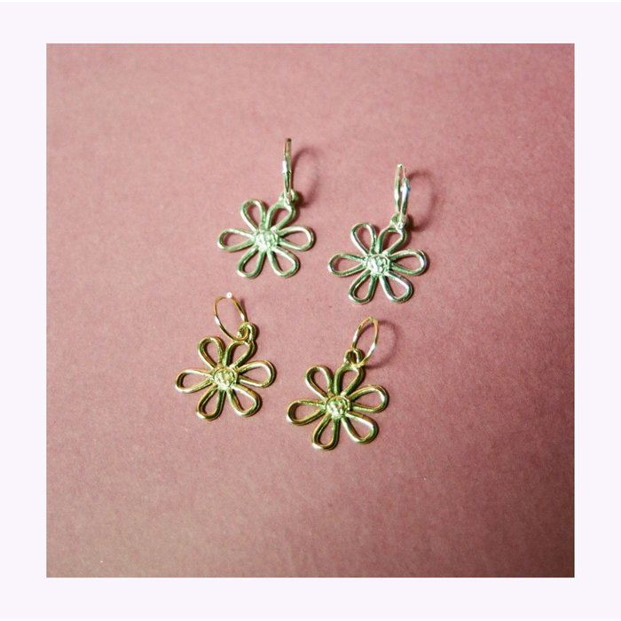 Bilak Flower Blueprint Earrings