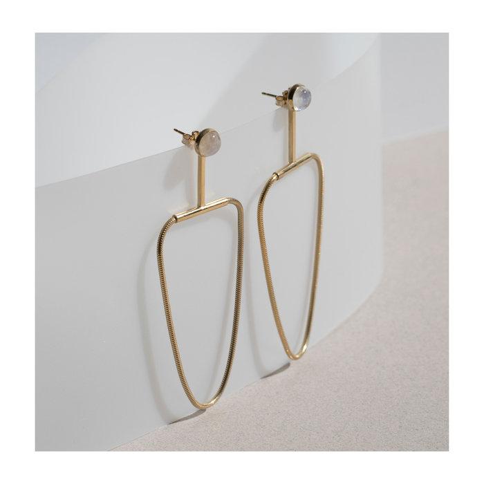 Lindsay Lewis Arlo Moonstone Earrings