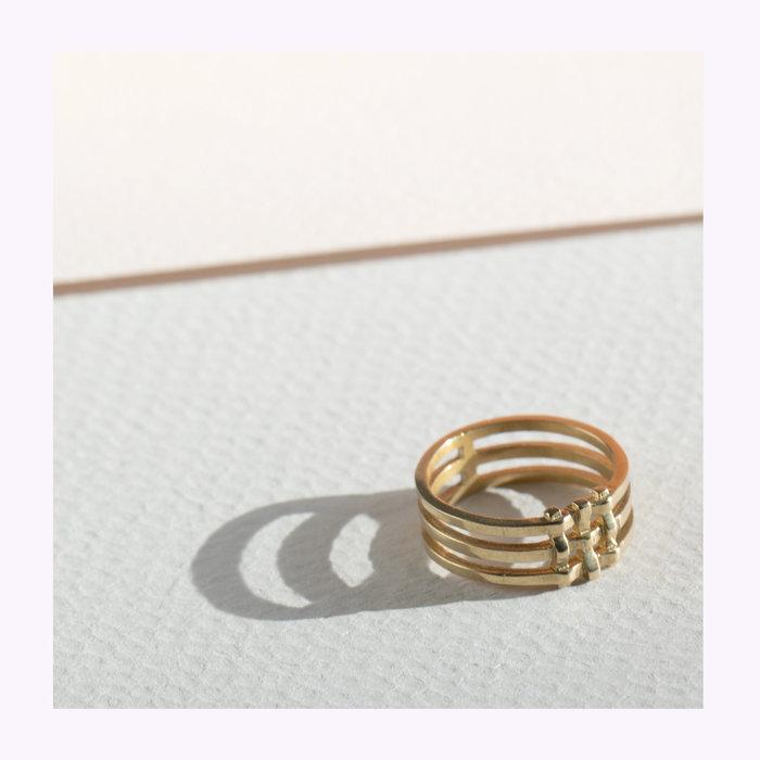 Lindsay Lewis Lindsay Lewis Crosshatch Ring