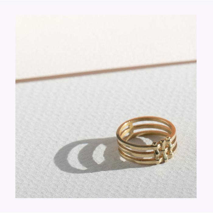 Lindsay Lewis Crosshatch Ring