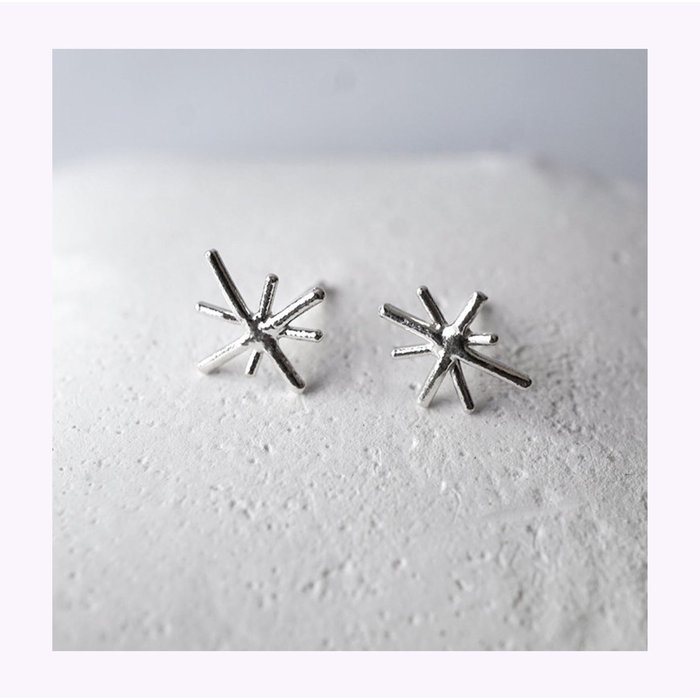 Marmod8 Silver Mini Stars Earrings