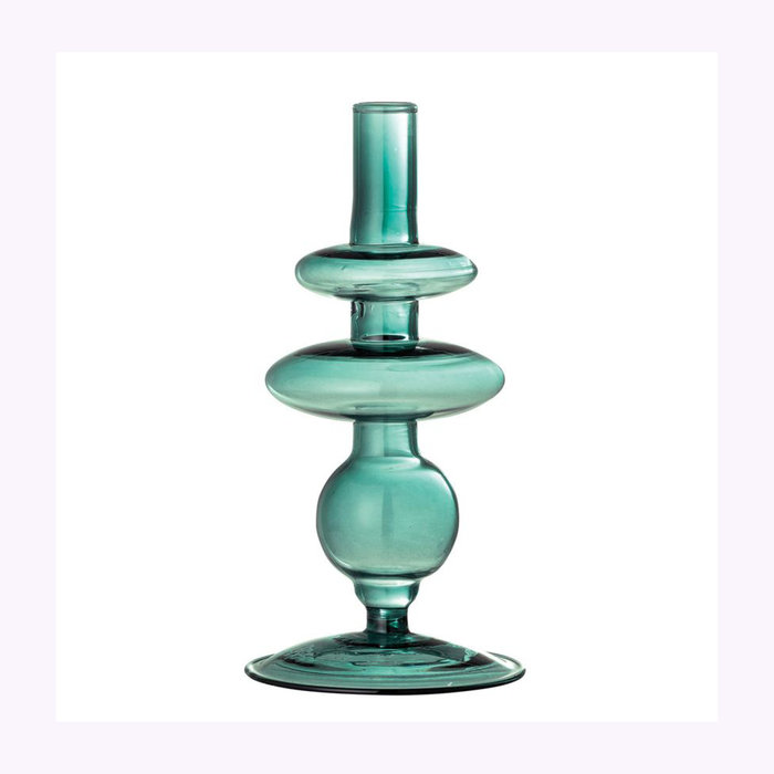 Bloomingville Vase rond en verre Vert Bloomingville
