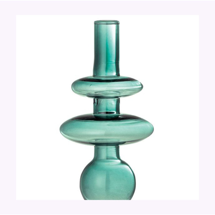Bloomingville Round Green Glass Vase
