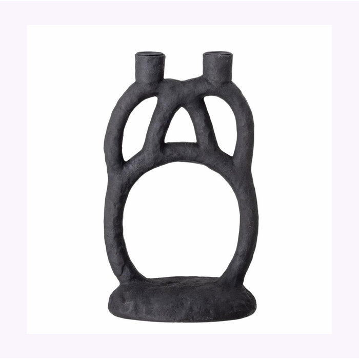 Bloomingville Black Double Candle Holder