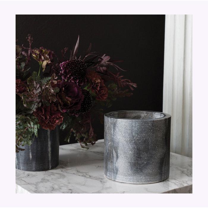 Accent Decor Marble Gray Planter 4 x 4