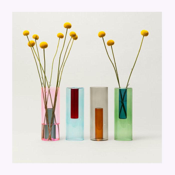 Block Design Block Design Tall Reversible Glass Vase