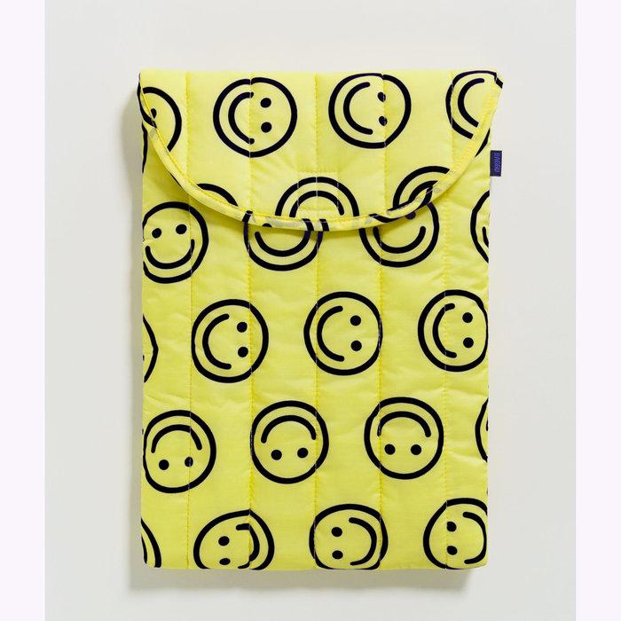 "Baggu pochette Baggu Happy Yellow Puffy Laptop Sleeve 16"""